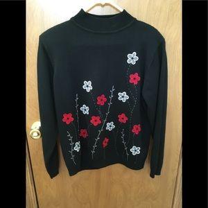 Black pullover sweater